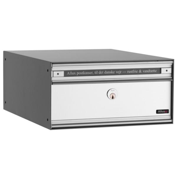 Allux Anlagenbriefkasten PC1 mit Alu-Front, durchgehend alugrau pulverbeschichtet