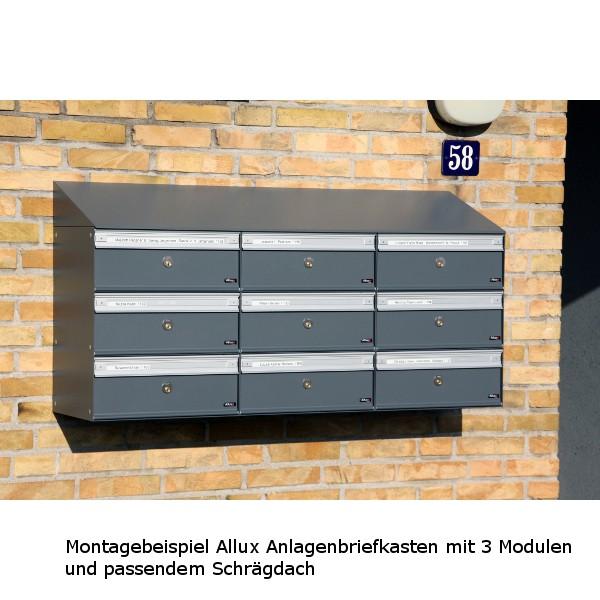 Schräges Dach für Anlagenbriefkasten PC1/2/3