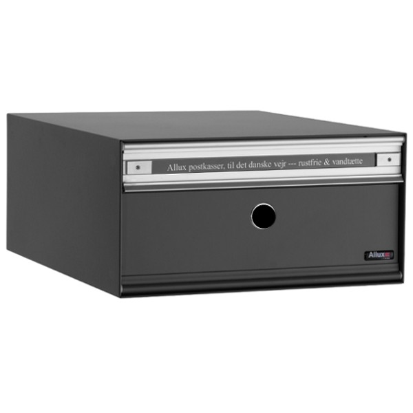 Allux Anlagenbriefkasten PC1, Stahl mit Alu-Klappe, anthrazit pulverbeschichtet