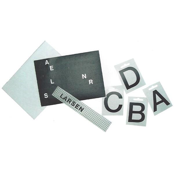 """Briefkastenbeschriftungen """"Einzelne große Zahlen und Buchstaben"""""""
